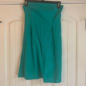 Kelly Green Strapless Dress